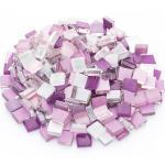 Softglas-Mosaik, lila-mix, 10 x 10 mm, 200 g