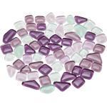 Softglas-Mosaik, lila-mix, polygonal, 10 - 20 mm, 200 g