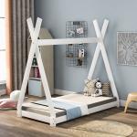 SOFTWEARY Kinderbett »Massivholzbett aus Kiefer, Bettgestell mit Lattenrost, 70x140 cm«