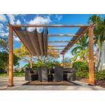 Sojag Pergola Florida Aluminium/Textil 350 cm x 350 cm x 2350 cm Natur/Braun