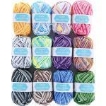 SOLEDI Häkelgarn 12 Farben 50g Wolle Zum Häkeln Acryl Wolle Serie Einweg Handstrickgarn Baumwollgarn für Häkeln und Kunsthandwerk, 12 Farben