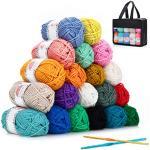 SOLEDI Häkelgarn 20 Farben 25g Wolle Zum Häkeln Acryl Wolle Serie Einweg Handstrickgarn Baumwollgarn für Häkeln und Kunsthandwerk, 20 Farben