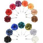Soleebee YM028 Ansteckblumen Gemischt zufällig Herren Handgefertigt Revers Pin Blume Set im Knopfloch Schläger Revers Krawatte Brosche Blume Boutonniere für Anzug Hochzeit Partei (zufällig 15 Stück)