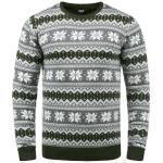 Solid Strickpullover Winno, Strickpulli mit Weihnachtsmuster grün Herren Rundhalspullover Pullover