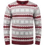 Solid Strickpullover Winno, Strickpulli mit Weihnachtsmuster rot Herren Rundhalspullover Pullover