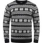 Solid Strickpullover »Winno« Strickpulli mit Weihnachtsmuster, schwarz, black