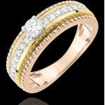 Goldene Edenly Tricolor Ringe glänzend