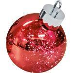 Sompex LED Dekoleuchte Kugelleuchte Ornament, Ø 20 cm, rot, batteriebetrieben, Glas