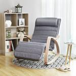 SONGMICS Sessel »LYY11G LYY10BV1«, Schaukelstuhl, Schwingstuhl, grau, grau, grau