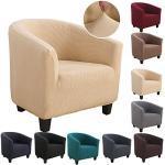 Souarts Sesselhussen Sesselbezug Stretch Elastisch Sofahusse Sofabezug Sesselschoner Couch Husse Sofaüberwurf (gelb)