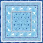Sovie HOME Tischdecke Seaside in Blau aus Linclass® Airlaid 80 x 80 cm, 1 Stück - Maritim 4045825244075