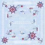 Sovie HORECA Tischdecke Meeresbrise in Blau aus Linclass® Airlaid 80 x 80 cm, 20 Stück - Mitteldecke Maritim 4045825335568