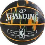 """Spalding Basketball NBA Marble - schwarz/orange/grün """