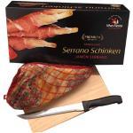 Spanischer Serrano Schinken Jamòn Serrano inkl. Ständer und Messer