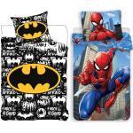 Spiderman Bettwäsche »Batman & - 2 x Wende-Bettwäsche-Set, 135x200 & 80x80 cm«, 100% Baumwolle