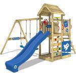 Spielturm mit Rutsche und Holzdach MultiFlyer DeLuxe