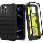 Spigen Geo Armor 360 Hülle Kompatibel mit iPhone 12 und Kompatibel mit iPhone 12 Pro -Schwarz