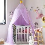 SpirWoRchlan Betthimmel für Kinder, Moskitonetz zum Aufhängen, Spiel- und Lesezelt für innen und außen, Bett-/Schlafzimmerdekoration, Insektenschutz, (Höhe: 240 cm) (Lila)