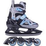 Spokey Avian 2in1 verstellbare Skates - Inliner und Schlittschuhe, blau