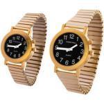 Sprechende Armbanduhr Black Edition Gold-Metall