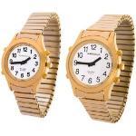 Sprechende Armbanduhr White Edition Gold-Metall