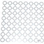 Spülbeckenmatte aus Polyethylen, weiß