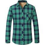 Grüne Langärmelige Trachtenhemden für Herren für den Winter