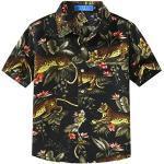 Schwarze Kurzärmelige Bügelfreie Kinderhemden Handwäsche für Jungen