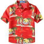 Grüne Kurzärmelige Bügelfreie Kinderhemden mit Weihnachts-Motiv Handwäsche für Jungen