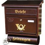 Braune Briefkästen & Postkästen mit Zeitungsfach