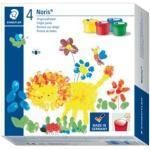 Staedtler Fingerfarbe Noris Club®, sortiert, Kunststoff-Töpfchen - 4 x 100 ml