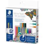 Staedtler Kreativ-Set Mut zur Pause + Stifteköcher/Sanduhr 18 Stifte
