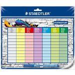 Staedtler Stundenplan 641 SP Lumocolor correctable, abwischbar, Stiftklemme und Folienschreiber, 31x25cm