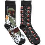 Star Wars Boba Fett Argyle Men's Crew Socks 2 Pair Pack Shoe Size 6-12