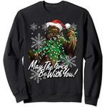 Star Wars Chewie Christmas Lights Force Is With You Holiday Sweatshirt