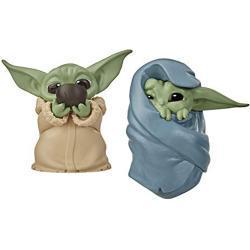 Star Wars The Bounty Collection The Child 5,5 cm großer The Mandalorian Baby Yoda, schlürft Suppe und ist in eine Decke gehüllt, Figuren 2er-Pack