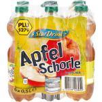 Stardrink Apfelschorle 0,5 Liter, 6er Pack