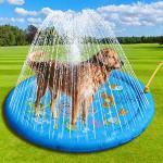 starte Splash Sprinkler Pad Für Hunde Kinder, Hundebad Pool Verdickt Dauerhafte Badewanne Für Hunde Kinder Sommer Outdoor Wasserspielzeug