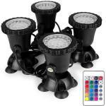 starter Unterwasserlicht, Wasserdichter IP 68-Tauchscheinwerfer Mit 36 LED-Lampen, 8 W, Mehrfarbiger Scheinwerfer Für Aquarium-Gartenteich, Pooltank, Brunnen, Wasserfall (4er-Set)