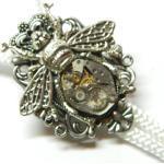 steampunk Bolo Krawatte Die Royale Bee, Einzigartige Geburtstagsgeschenk, Dampf Punk Silber Oder Gold Schmuck Herrenmode, Uhrwerk, Schnur
