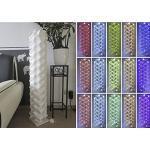 """Stehlampe"""" Venedig"""" Höhe 120 cm Ø 30 cm, Lichtsäule Designer Bodenlampe inkl.15 Farben LED Farbwechsler mit Fernbedienung (30D/115-L-FW)"""