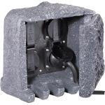 Steinsteckdose 4-fach in Grau IP44