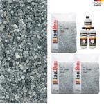 Steinteppich SET Marmorkies 75kg + PU-Bindemittel für 7,5m² Ice blue 4-8mm