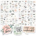 Sticker Hochzeit Gästebuch (164 Motive) - Vintage Hochzeit Aufkleber für Gästebuch oder Fotoalbum mit viel Liebe - Love Stickers für Scrapbook oder Bullet Journal - Wedding Deko mit Herz - Peach
