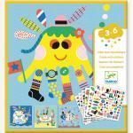 """Sticker-Set """"Meerestiere"""" DJECO mehrfarbig"""