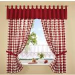 Stickereien Plauen Vorhang Durach rot Wohnzimmergardinen Gardinen nach Räumen Vorhänge