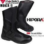 Schwarze MODEKA Monza Herrenstiefel mit Klettverschluss aus Nappaleder Wasserdicht Übergrößen