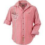 Stockerpoint Trachtenhemd mit traditioneller Strickerei, rot