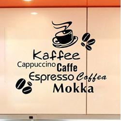 Stonges Kaffeetassen Wandaufkleber Kaffee Caffe Art Vinyl Aufkleber Küche Restaurant Cafe Bar Dekoration