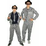 Sträfling Kostüm für Herren Gangster Gefangener Anzug Boss Häftling Gr. S-XXL